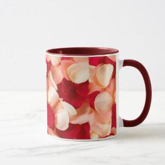 mug rose petals