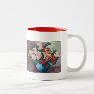 Mug - Roses, painting by Eleanor