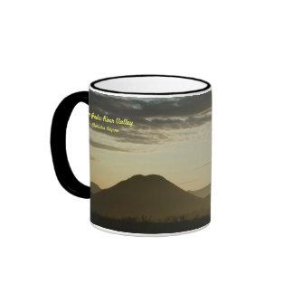 Mug: San Pedro Valley At Dawn Ringer Mug