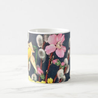 MUG - SPRING FLOWERS FLORAL DESIGN - CUSTOMIZABLE
