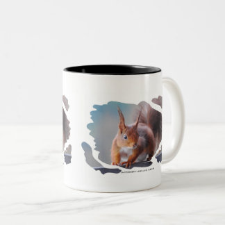 MUG Squirrel COFFEE CUP squirrel by GLINEUR