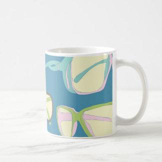 Mug, sunglasses vintage design. coffee mug