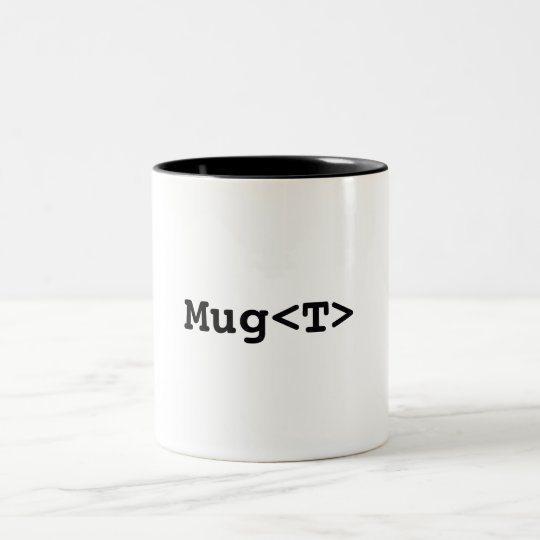 Mug<T> Two-Tone Coffee Mug