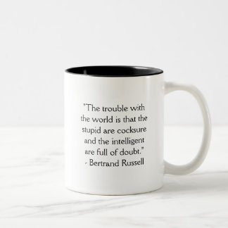 Mug: The trouble with the world... Two-Tone Coffee Mug