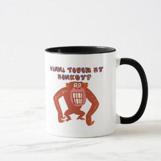Mug Touchez mes cadeaux drôles de T-shirts de singe