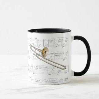 Mug - Trombone (tenor) with sheet music