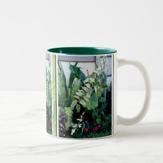 Mug-Tropical Garden Two-Tone Coffee Mug