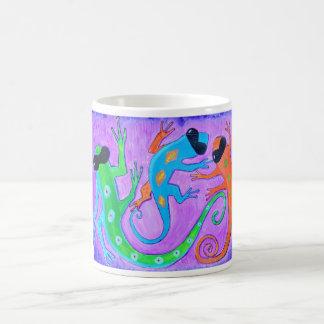 Mug-tropical lizards in sunglasses classic white coffee mug