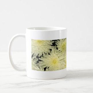 Mug, WHITE CHRYSANTHEMUMS LIKE STARS Coffee Mug