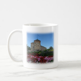 Mug with a fortress and a Bible verse (Psalm 18:2)