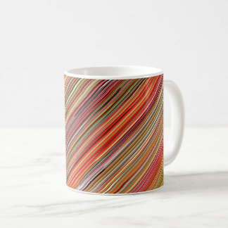 Mug with abstract design: parallel colorful lines!