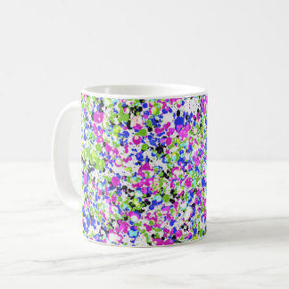Mug with abstract design with colorful flicks!