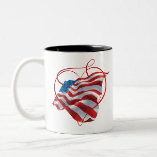Mug with American Flag Motive