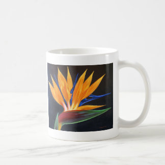 Mug With Bird Of Paradise Tropical Flower Painting