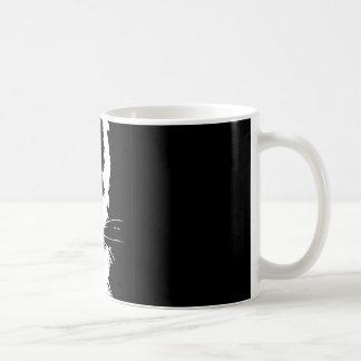 Mug with black and white print tiger
