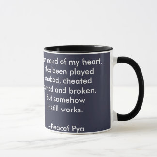 Mug With Black Handle - I Am Proud of My Heart