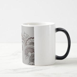 Mug with black henna design