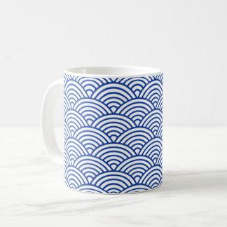 Mug with blue and white circles