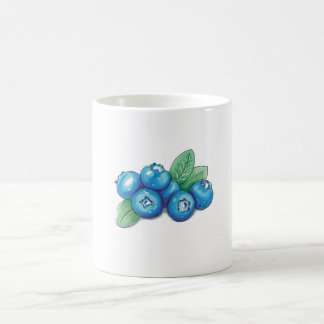 Mug with blueberries