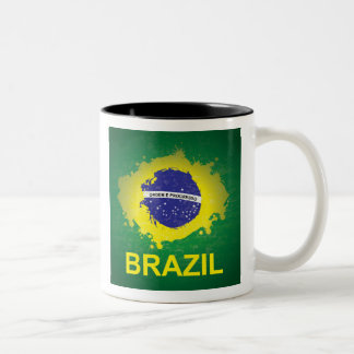 Mug with Brasilian Flag Motive