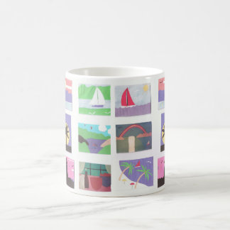Mug with Colorful Outdoor Scenes
