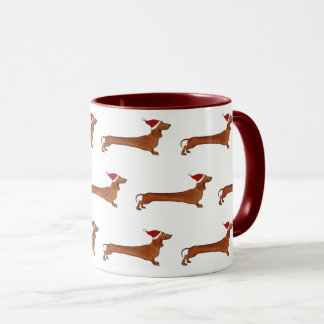 Mug with dachshund pattern