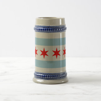 Mug with Flag of Chicago, Illinois State -USA