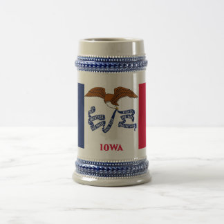 Mug with Flag of  Iowa State -USA