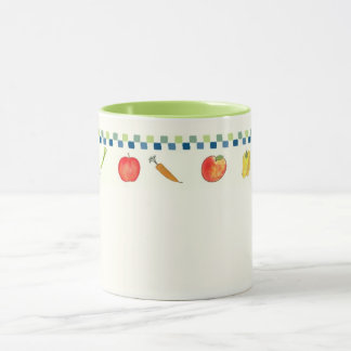 Mug with Fruits and Vegetables