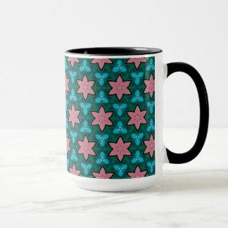 Mug with geometric patterns