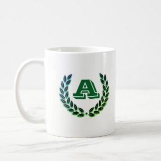mug with initial A