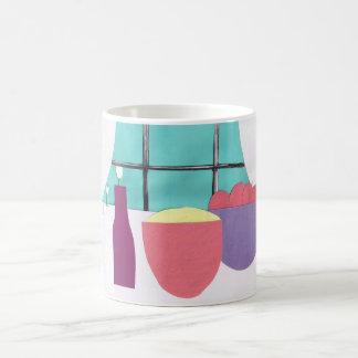Mug with Kitchen Window Design