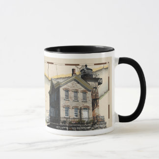 Mug with lighthouses 1, Hudson-Athens & Saugerties