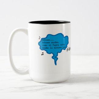 Mug with musical message