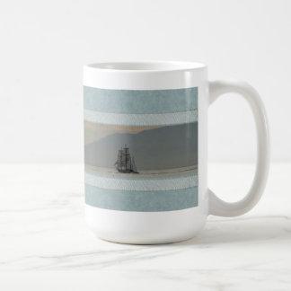Mug with Ocean and Tall Ships