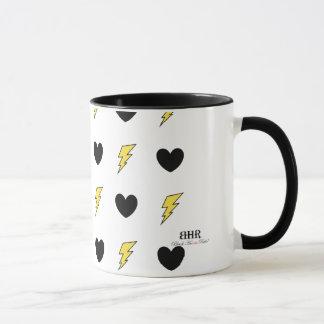 """Mug with original art """"Hearts and Bolts"""""""