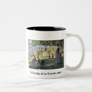 "Mug with Painting ""A Sunday at La Grande Jatte"""