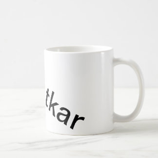 Mug with random Dutch words on it
