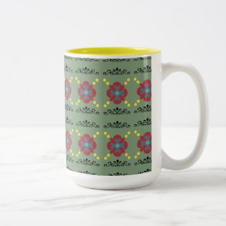 Mug with scrolling floral design
