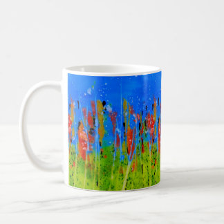 Mug with splashed-colors: abstract design