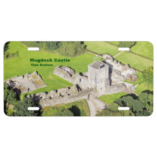 Mugdock Castle -- Ariel View License Plate