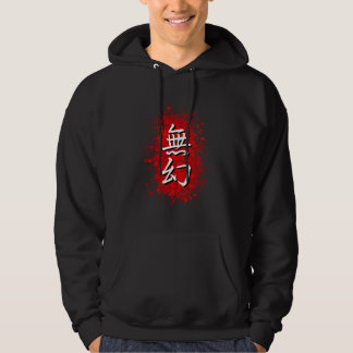 Mugen on Red Paint Spatter Hoodie