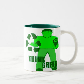 MUGGIN' HOOD -- The Green Mugger Two-Tone Coffee Mug