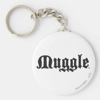 Muggle Basic Round Button Keychain