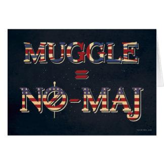 Muggle = No-Maj Card