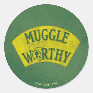 Muggle Worthy Classic Round Sticker