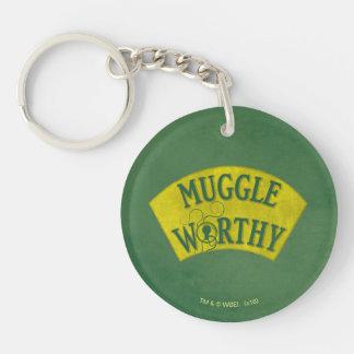 Muggle Worthy Double-Sided Round Acrylic Keychain