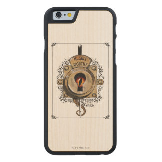 Muggle Worthy Lock With Fantastic Beast Locked In Carved® Maple iPhone 6 Slim Case