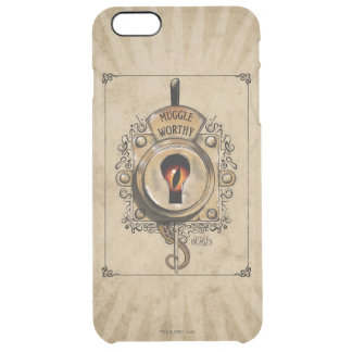 Muggle Worthy Lock With Fantastic Beast Locked In Clear iPhone 6 Plus Case