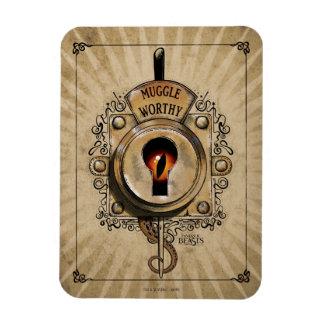 Muggle Worthy Lock With Fantastic Beast Locked In Rectangular Photo Magnet